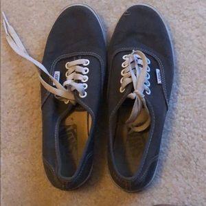Grey low top lace up vans